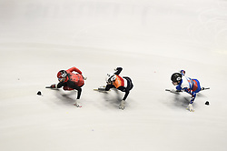 February 8, 2019 - Torino, Italia - Foto LaPresse/Nicolò Campo .8/02/2019 Torino (Italia) .Sport.ISU World Cup Short Track Torino - 1500 meter Men Quater Finals.Nella foto: Stevan Dubois, Itzhak de Laat, Denis Ayrapetyan..Photo LaPresse/Nicolò Campo .February 8, 2019 Turin (Italy) .Sport.ISU World Cup Short Track Turin - 1500 meter Men Quater Finals.In the picture: Stevan Dubois, Itzhak de Laat, Denis Ayrapetyan (Credit Image: © Nicolò Campo/Lapresse via ZUMA Press)