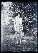 woman standing in nature setting France circa 1930s