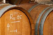Roc 2005. Domaine Cazeneuve in Lauret. Pic St Loup. Languedoc. Barrel cellar. France. Europe.