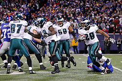 Philadelphia Eagles running back LeSean McCoy #29 carries the ball during the NFL game between the Philadelphia Eagles and the New York Giants on December 13th 2009. The Eagles won 45-38 at Giants Stadium in East Rutherford, New Jersey. (Photo By Brian Garfinkel)
