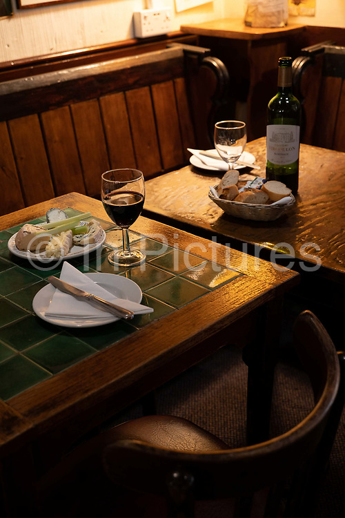 Le Beaujolais wine bar on the 3rd October 2019 in London in the United Kingdom.