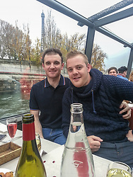 © Licensed to London News Pictures . FILE PICTURE DATED 25 November 2012 . Hulme , Manchester , UK .  L-R LEE ROBINSON and BEN ADAMS (both correct) in Paris . As reported in the Manchester Evening News on 26th November 2012, newlywed Ben Adams (24) accompanied single best friend Lee Robinson (26) on a speed dating trip to Paris , to lend moral support . Even though he wore his wedding ring and made it clear he was spoken for , Ben still ended up being voted the most wanted man by the women on the trip and he won a holiday to Majorca to share with the woman of his choice . Although they've only recently returned from their honeymoon in Egypt , the couple are now travelling to Majorca . Photo credit : Joel Goodman/LNP