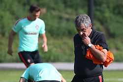 October 9, 2017 - Lisbon, Lisbon, Portugal - Portugals head coach Fernando Santos in action during National Team Training session before the match between Portugal and Switzerland at City Football in Oeiras on October 9, 2017. (Credit Image: © Dpi/NurPhoto via ZUMA Press)
