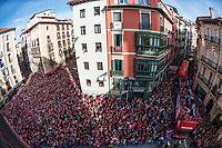 Osasuna's players and supporters during the celebration for promotion to La Liga BBVA on the city hall square Pamplona . 19,06,2016. (ALTERPHOTOS/Rodrigo Jimenez)