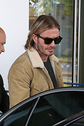 EXCLUSIVE: A stylish David Beckham arrives in Milan for the opening of Adidas's biggest concept store. Beckham is a former AC Milan player, as well and representing Manchester United, Real Madrid and LA Galaxy. 29 Sep 2017 Pictured: David Beckham. Photo credit: Vasilii/ MEGA TheMegaAgency.com +1 888 505 6342