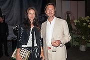 CHARLOTTE STOCKDALE; MARC NEWSON, Dinner to celebrate the opening of the first Berluti lifestyle store hosted by Antoine Arnault and Marigay Mckee. Harrods. London. 5 September 2012.