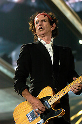 Rolling Stones play live at the Don Valley StadiumSheffield. .27 th August 2006.Copyright Paul David Drabble Keith Richards. Rolling Stones play live at the Don Valley Stadium Sheffield. A Bigger Bang Tour 27th August 2006 Copyright Paul David Drabble