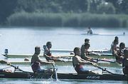 Milan ITALY,  General View of the USA BM4-  Ted CARSON, Edward KAKAS, Brett REISINGER and  Jason READ,  1997 Nations Cup U23  World Rowing Championships. Course, Idra Scala. Province of Milan.<br /> <br /> [Mandatory Credit; Peter Spurrier/Intersport-images] 1997 U23 Nations Cup U23 Championships. Milan Italy