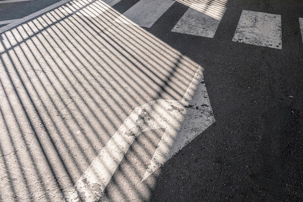 Shadows, Ealing Broadway car park, London.<br /> Picture date: Friday February 15, 2019.<br /> Photograph by Christopher Ison ©<br /> 07544044177<br /> chris@christopherison.com<br /> www.christopherison.com