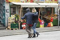 Hamburg - Diane Kruger And Director Fatih Akin On Set Of Aus Dem Nichts - 21 Oct 2016