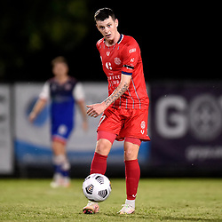 BRISBANE, AUSTRALIA - MARCH 28:  during the NPL Queensland Senior Men's Round 4 match between Olympic FC and Peninsula Power on March 28, 2021 in Brisbane, Australia. (Photo by Patrick Kearney)