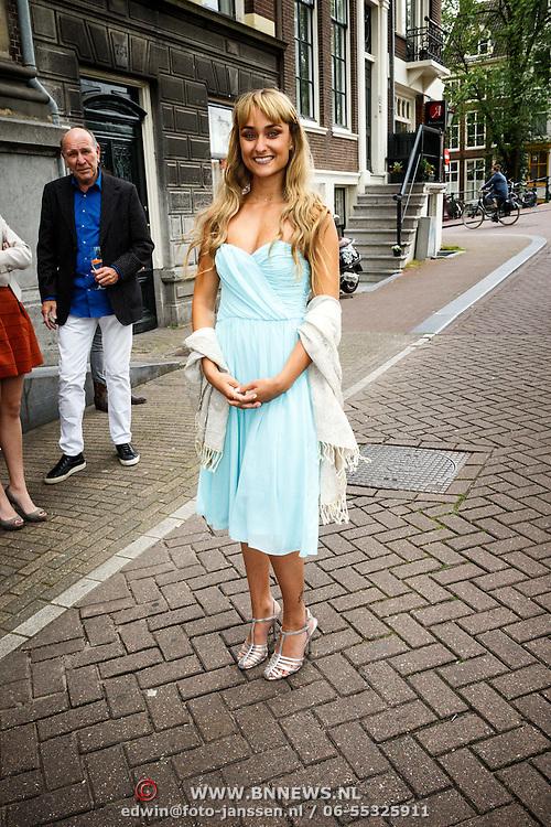 NLD/Amsterdam/20150620 - Huwelijk Kimberly Klaver en Bas Schothorst, Melody Klaver