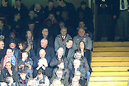 Arsene Wenger, the Arsenal manager © sits in the stands. Premier league match, Chelsea v Arsenal at Stamford Bridge in London on Saturday 4th February 2017.<br /> pic by John Patrick Fletcher, Andrew Orchard sports photography.