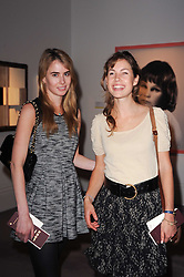 Left to right, MEREDITH DUNN and LUCINDA ROBINSON at the Krug Mindshare auction held at Sotheby's, New Bond Street, London on 1st November 2010.
