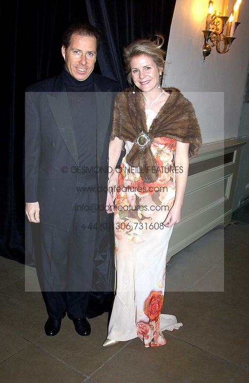 VISCOUNT & VISCOUNTESS LINLEY  at a private dinner to unveil the Van Cleef & Arpels jewellery collection 'Couture' with fashion by Anouska Hempel Couture held at The Banqueting House, Whitehall Palace, London on 8th March 2005.<br /><br />NON EXCLUSIVE - WORLD RIGHTS