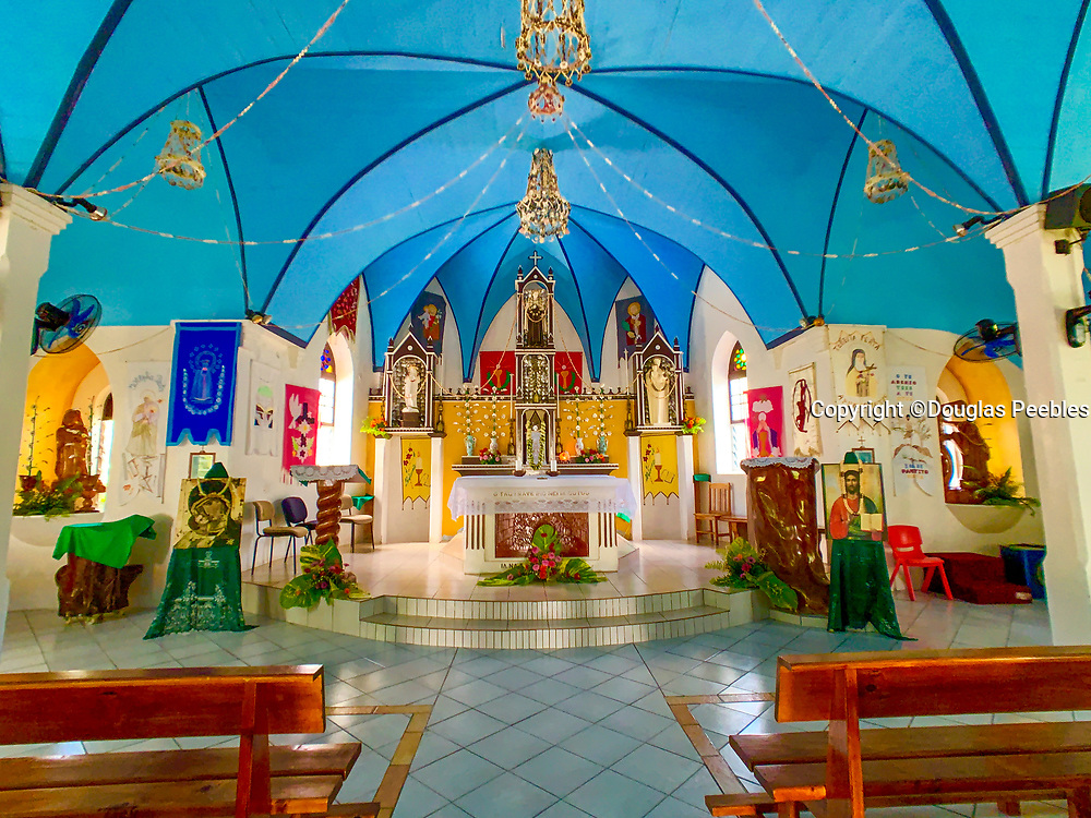 Rotava Catholic Church, Fakarava, Tuamotu Islands, French Polynesia, South Pacific