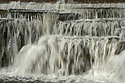 The  Mississippi River cascades over  limestone rocks of small waterfalls<br />Carleton Place<br />Ontario<br />Canada