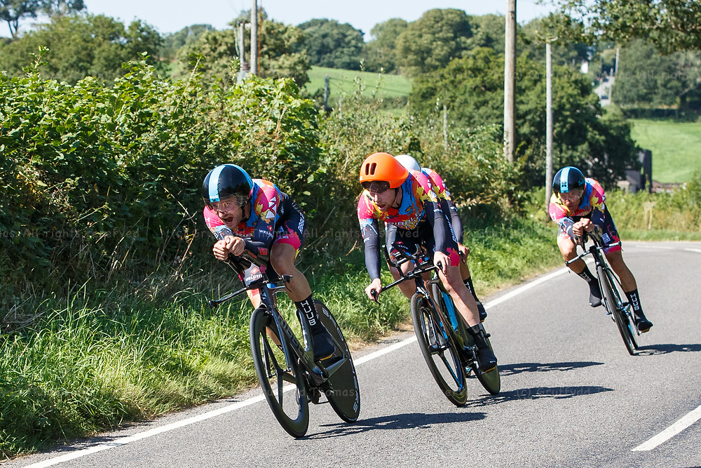 National Botanic Garden of Wales, Llanarthne, Wales, UK. Tuesday 7 September 2021.  Stage 3 of the Tour of Britain cycling race.<br /> Credit: Gruffydd Thomas/Alamy