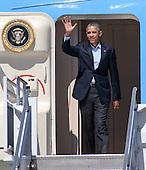 President Obama Arrives at LAX 2015