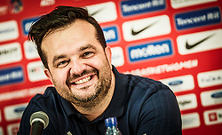 Damir Grgic, head coach of Slovenia during press conference after the basketball match between Women National teams of Italy and Slovenia in Group phase of Women's Eurobasket 2019, on June 30, 2019 in Sports Center Cair, Nis, Serbia. Photo by Vid Ponikvar / Sportida