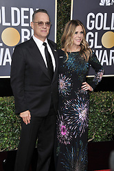 Tom Hanks and Rita Wilson at the 75th Golden Globe Awards held at the Beverly Hilton in Beverly Hills, CA on January 7, 2018.<br /><br />(Photo by Sthanlee Mirador)