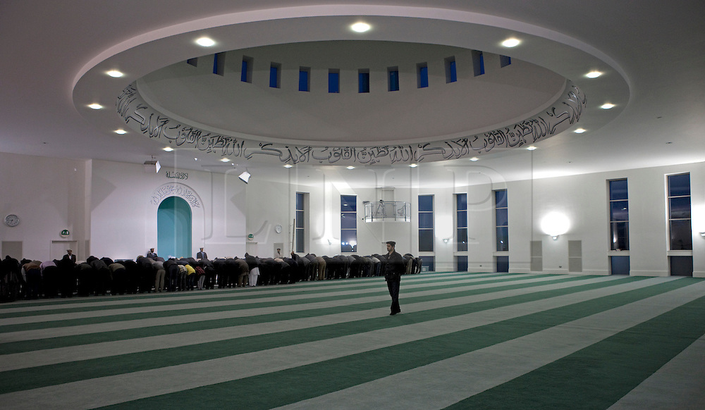 © Licensed to London News Pictures. 24/03/2012. Surrey, U.K..Europe's largerst mosque, Baitul Futuh Mosque, in Morden, Surrey, which holds 10,000 worshipers. .Parliamentarians and religious, civic, charitable and community leaders meet here this evening 24/3/2012 for a National Peace Symposium on International Peace organised by the Ahmadiyya Muslim community to hear how Muslims are countering extremism..Photo credit : Rich Bowen/LNP