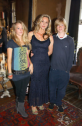 LADY LIZA CAMPBELL and her children STORM ATHILL and ATTICUS ATHILL at a party to celebrate the publication of Title Deeds by Liza Campbell at the First Floor, 186 Portobello Road, London on 14th June 2006.<br /><br />NON EXCLUSIVE - WORLD RIGHTS