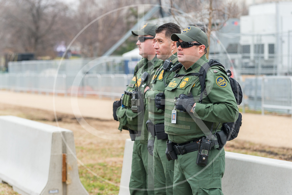 Washington DC, United States - U.S. Border Patrol agents assist with security at Trump's 2017 inauguration.