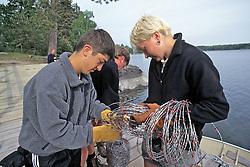 Thomas LeNoble & Cyndy O'Sell Preparing Wire For Hair Snairs