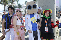 July 5, 2018 - Los Angeles, California, U.S - Anime fans wait long line to enter the Anime Expo in the Los Angeles Convention Center in Los Angeles, the United Staes, on July 5, 2018. (Credit Image: © Ringo Chiu via ZUMA Wire)