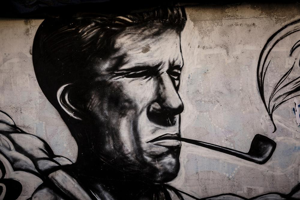 Mountain style graffiti in Chamonix