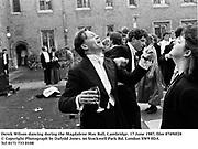 Derek Wilson dancing during the Magdalene May Ball, Cambridge. 17 June 1987. film 87490f28<br />© Copyright Photograph by Dafydd Jones<br />66 Stockwell Park Rd. London SW9 0DA<br />Tel 0171 733 0108