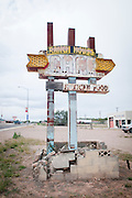 A worn out abandoned sign for the Ranch House Cafe. Missoula Photographer
