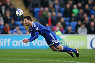 Sean Morrison of Cardiff city in action. EFL Skybet championship match, Cardiff city v Birmingham City at the Cardiff City Stadium in Cardiff, South Wales on Saturday 11th March 2017.<br /> pic by Andrew Orchard, Andrew Orchard sports photography.