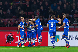 13-03-2019 NED: Ajax - PEC Zwolle, Amsterdam<br /> Ajax has booked an oppressive victory over PEC Zwolle without entertaining the public 2-1 / Vito van Crooij #7 of PEC Zwolle scores the 1-1, Zian Flemming #14 of PEC Zwolle, Ouasim Bouy #34 of PEC Zwolle