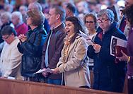 Parishioners listen as Archbishop of Philadelphia, Archbishop Nelson Pérez speaks to the crowd while celebrating the 10:30AM mass Sunday, March 01, 2020 at Saint Andrew Catholic Parish in Newtown, Pennsylvania. (WILLIAM THOMAS CAIN/PHOTOJOURNALIST)