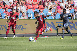 August 12, 2018 - Toronto, Ontario, Canada - MLS Game at BMO Field 2-3 New York City. IN PICTURE: VICTOR VAZQUEZ (Credit Image: © Angel Marchini via ZUMA Wire)