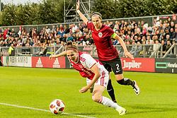 (L-R) Ellen Jansen of Ajax women, Adéla Odehnalová of AC Sparta Praha women during the UEFA Women's Champions League match between Ajax Amsterdam and Sparta Praag at Sportpark De Toekomst on September 12, 2018 in Amsterdam, The Netherlands