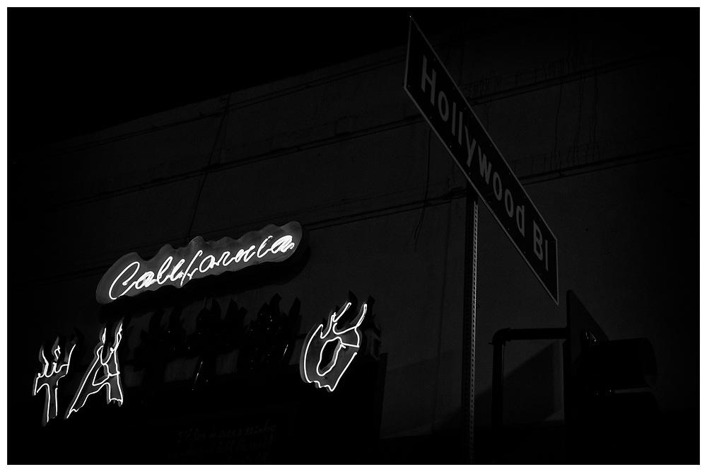 LA Noir: Hollywood Boulevard at Night