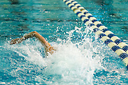 Katherine Douglass wins both the 50 and 100 Yard Freestyle events in the 2016 NYSPHSAA Swimming and Diving Championships held at Ithaca College on Saturday.