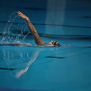 TOKYO, JAPAN - JULY 31:   Caeleb Dressel of the United States has a brief swim down in the diving pool while competing in three events on the day which included a world record in the 100m butterfly for men during the Swimming Finals at the Tokyo Aquatic Centre at the Tokyo 2020 Summer Olympic Games on July 31, 2021 in Tokyo, Japan. (Photo by Tim Clayton/Corbis via Getty Images)
