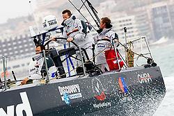 © Sander van der Borch.Alicante, 11 October 2008. Start of the Volvo Ocean Race. Team Delta Lloyd. Skipper Ger O'Rourke en MCM Sander Pluijm during the short course just before they head of to Capetown..