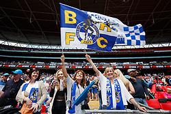 Bristol Rovers fans - Photo mandatory by-line: Rogan Thomson/JMP - 07966 386802 - 17/05/2015 - SPORT - FOOTBALL - London, England - Wembley Stadium - Bristol Rovers v Frimsby Town - Vanarama Conference Premier Play-off Final.