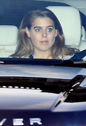 Princess Beatrice leaving the Queen's Christmas lunch at Buckingham Palace, London.