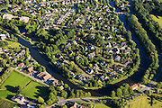Nederland, Utrecht, Gemeente Woerden, 15-07-2012; nieuwbouwwijk Bastion Willem, annex villawijk in bocht van rivier de Oude Rijn..Woerden, new residential area / at the river Oude Rijn .luchtfoto (toeslag), aerial photo (additional fee required).foto/photo Siebe Swart