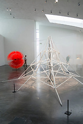 Sculpture Sugar Mountain by Kim Simonsson at Kiasma contemporary art museum in Helsinki Finland