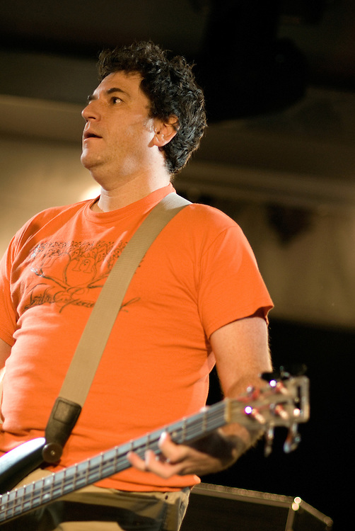 Shellac [Bob Weston pictured] performing live at Ten Years of All Tomorrow's Parties at Butlins in Minehead. 13 December 2009.