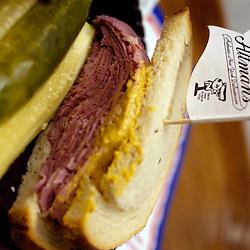 The famous classic corned-beef sandwich at Attman's New York Delicatessen...Photo by Susana Raab.