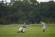 Pierceson Coody of Plano, Texas hits from the fairway during the Under Armour® / Jordan Spieth Championship presented by American Campus Communities at Trinity Forest Golf Club in Dallas, Texas on August 15, 2017. CREDIT: Cooper Neill for The Wall Street Journal<br /> JRGOLF
