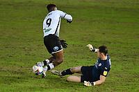 Football - 2020 / 2021 Sky Bet Championship - Swansea City vs Barnsley - Liberty Stadium<br /> <br /> Jamal Lowe of Swansea is foiled by Jack Walton of Barnsley <br /> <br /> COLORSPORT/WINSTON BYNORTH